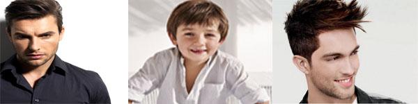 Réalisations coiffures homme et enfant